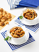 Rosemary roasted cashews and walnuts