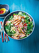 Duck breast and noodle salad with sesame sauce