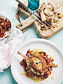 Pork cutlets with a warm fennel & capsicum jam