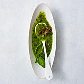A basil and caper marinade
