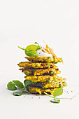 Indian spiced pea fritters