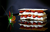 Mille-Feuilles with cream and berries