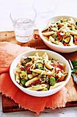 Fennel, Zucchini and Salami Pasta