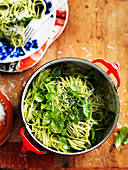 Zesty Rocket and Lemon Pesto Spaghetti