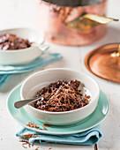 Dark chocolate risotto