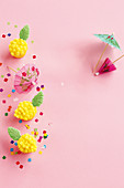 Mini pineapple cupcakes