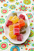 Vegan fruit jelly sweets