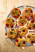 Vegan semolina cakes (Revani, Turkey)