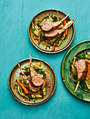 Chilean rack of lamb with winter root vegetables