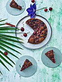 Panamanian cherry cake with chocolate and nuts