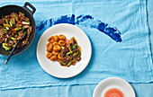Californian pan-fried lamb with sweet potato gnocchi