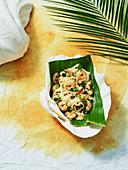 Tongan tagliatelle Vava'u with prawns (Oceania)