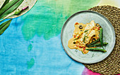 Fish with pineapple, okra pods and olives (Samoa, Oceania)