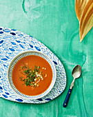 Tropical tomato soup with mint (Yap Island)