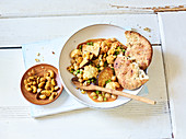 Oven-baked vegan coconut and vegetable curry with tofu