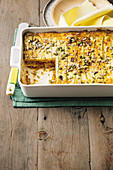 Pumpkin and zucchini lasagne