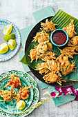 Cucur Udang (shrimp and vegetable fritters, Malaysia, Asia)
