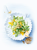 Pointed cabbage salad with orange dressing