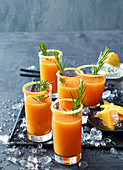 Mango and melon daiquiri with rosemary