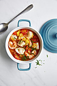 Tomato bouillabaisse (South Africa)