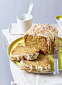 Buttermilk loaf cake with coconut