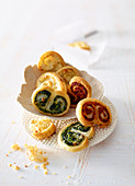 Spicy spiral pastries
