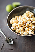 Tea and lime popcorn