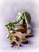Artichoke tincture for stomach flu complaints