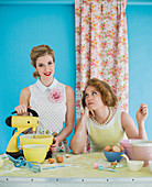 Retro baking women