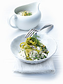 Tagliatelle with courgette sauce