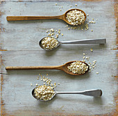 Four spoons of oats