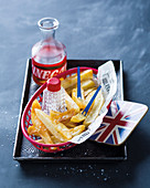Crispy chips with salt (England)