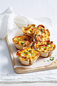 Bacon and Egg Bread Quiches