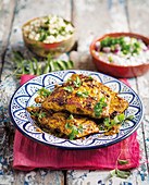 Fried, curried fish fillets