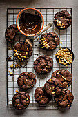 Chocoloate and peanut cookies