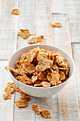 A bowl of cornflakes