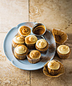 Milk tart cupcakes with cinnamon cream