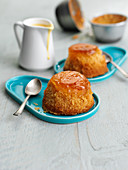 Steamed orange and ginger puddings