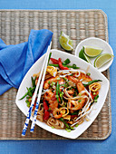 Pad Thai Piled High on a Plate