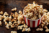 Pumpkin pie spiced kettle popcorn