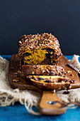 Chocolate babka (yeast cake, Eastern Europe) with butternut squash