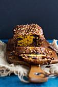 Schokoladen-Babka (Hefekuchen, Osteuropa) mit Butternusskürbis