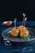 Arancinis (fried rice balls, Italy)