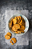 Spiced sables with mimolette (seen from above)