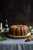 Cranberry walnut bundt cake
