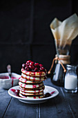 Ricotta Pancakes with Cherry Sauce