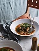 Spanische Gemüsesuppe mit Reis