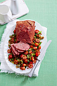 Braised Apple Cider Vinegar Corn Beef with Lentils
