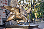 Griffon sculpture at the Steintor, Rostock, Germany
