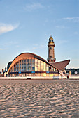 The 'Teapot' and the old lighthouse, sightseeing attractions in Warnemünde, Rostock, Germany